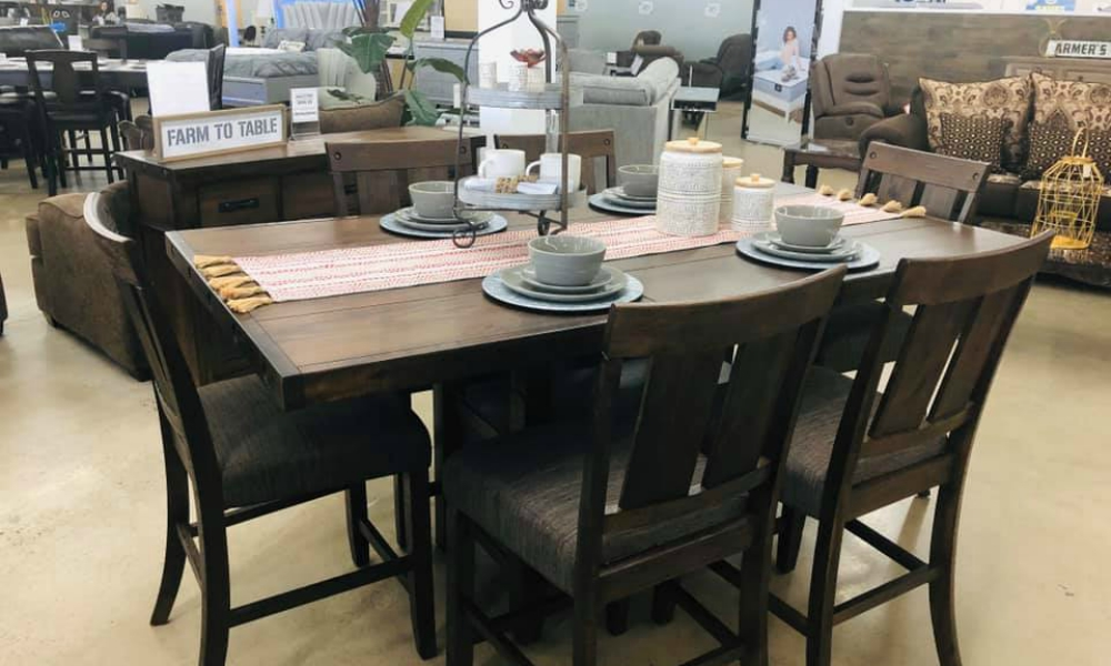 Dining Sets Serrano S Furniture, Round Table Hanford